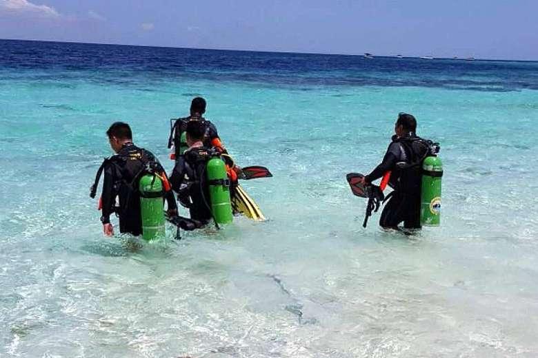 underwater police sipadan